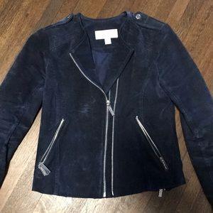 Michael Michael Kors suede double zip jacket